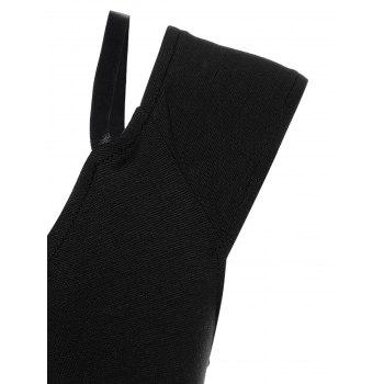Back Slit High-Waist Pencil Dress - BLACK S
