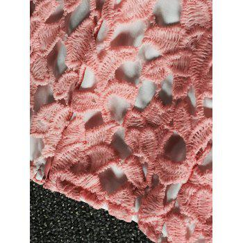 Lace Bustier Crop Top and Shorts - ORANGEPINK M