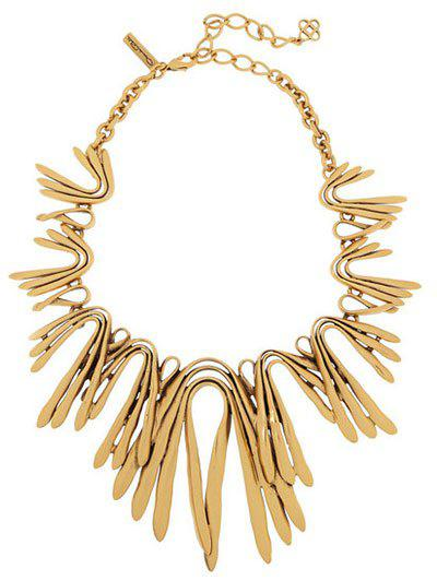 Alloy Plated Statement Choker Necklace resin geometric gold plated alloy statement necklace
