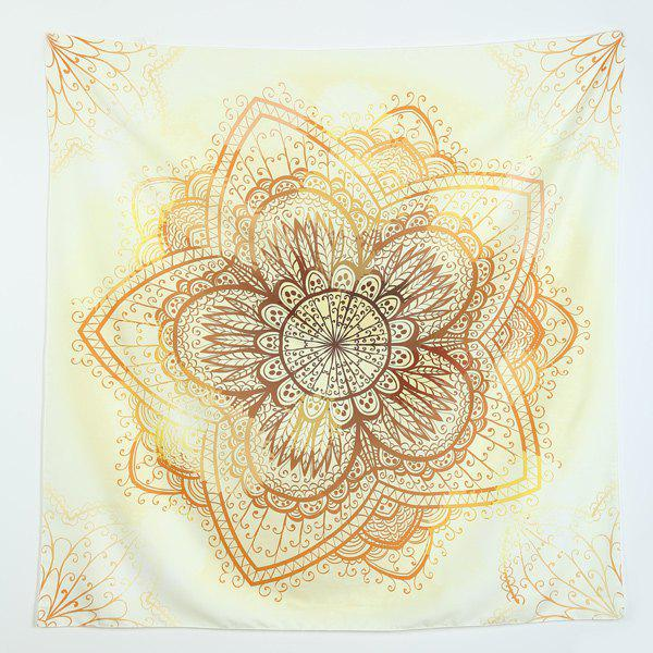 Gradient Floral Print Brighten Beach Throw - LIGHT YELLOW