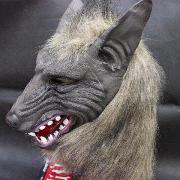Horror Halloween Party Wolf Head Cospaly Prop MaskHome<br><br><br>Color: GRAY