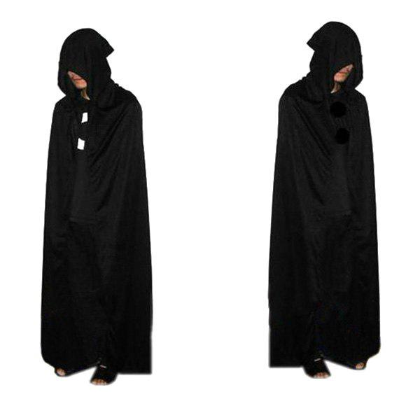 Halloween Cospaly Party Devil Hooded Cloak Costume - BLACK