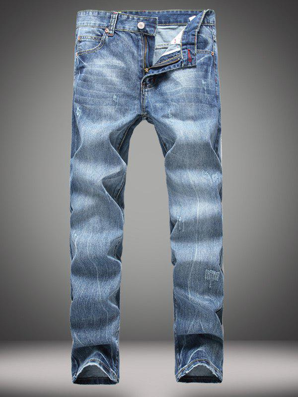 Straight Leg Zipper Fly Distressed Jeans zipper fly pocket distressed straight leg jeans page 7