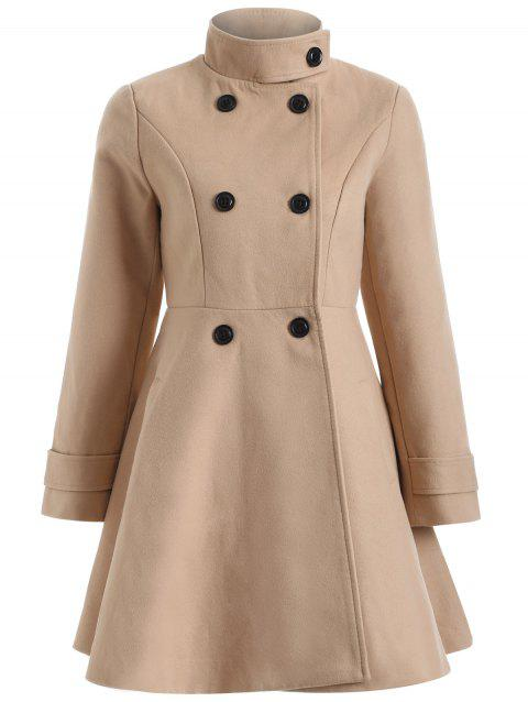 Chaud Double-breasted Felt Trench Coat - Camel M