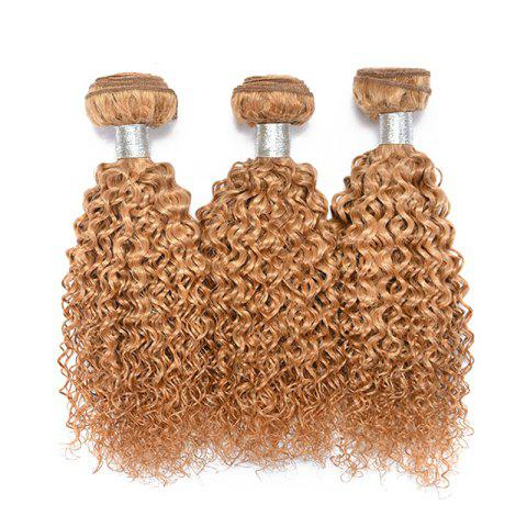 1 Pcs Bouncy Brazilian 6A Virgin Kinky Curly Tissages Cheveux - 27 Blonde d'Or 20INCH