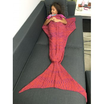Super Soft Crochet Yarn Knitted Mermaid Tail Shape Blanket