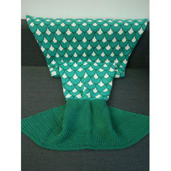 Warmth Jacquard Design Mermaid Tail Shape Blanket