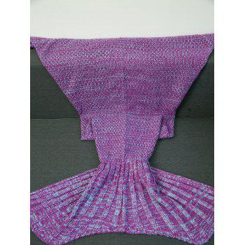 High Quality Crochet Yarn Knitted Fish Tail Shape Blanket