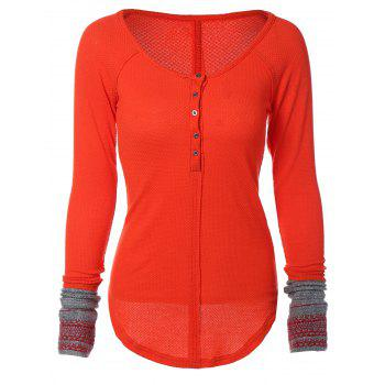 Scoop Neck Long Sleeve Top - JACINTH L