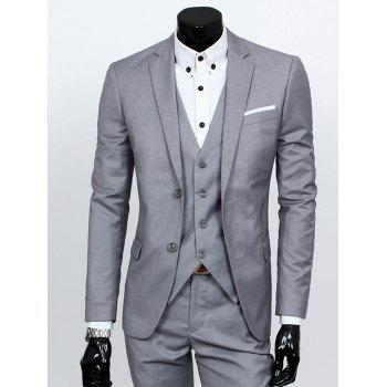 Single Breasted Lapel Business Three-Piece Suit