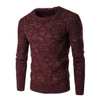 Crew Neck Long Sleeve Colorful Kink Design Sweater