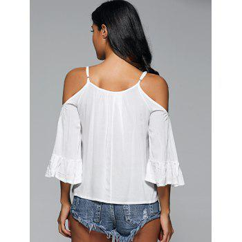 Cami Cut Out Crochet Insert Blouse - Blanc ONE SIZE