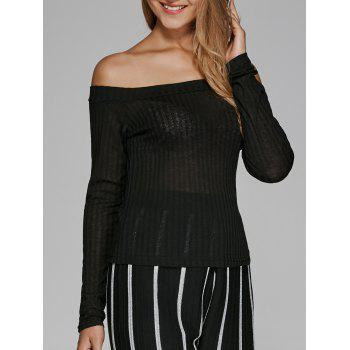Off The Shoulder Textured Knitwear