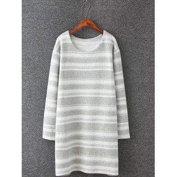 Plus Size Stripe Knitted Dress