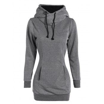 Slim Pockets Design Pullover Neck Hoodie