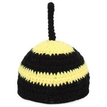 Crochet Bee Bébé Prop Photographie Costume Set - Noir