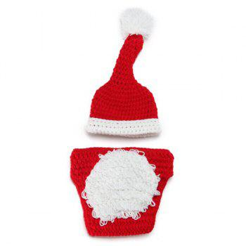 Crochet Santa Claus Baby Photography Prop Costume Set