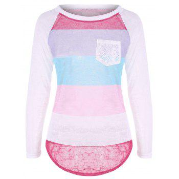 Stripe Raglan Sleeve T Shirt