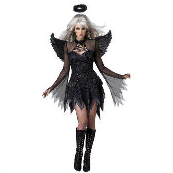 Cosplay Exotic Apparel Dark Devil Fallen Angel Sexy Adult Halloween Costume - BLACK BLACK