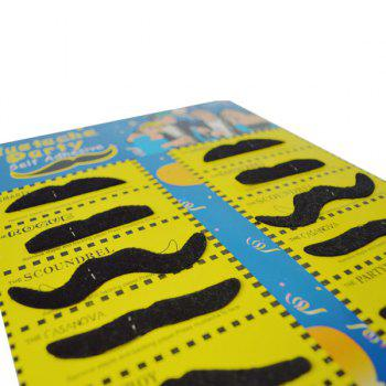 12Pcs Costume Party Funny Halloween Fake Mustache -  BLACK