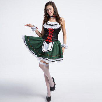 High Grade Costume Beer Festival Sleeveless Maid Outfit - XL XL
