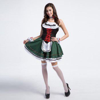 High Grade Costume Beer Festival Sleeveless Maid Outfit - M M