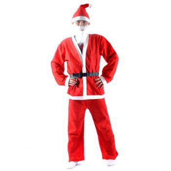 High Quality Christmas Santa Claus Set Red Cosplay Costume - RED RED
