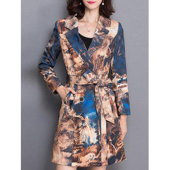 Wrap Jacquard Trench Coat