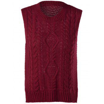 Cable-Knit Sleeveless Textured Knitwear