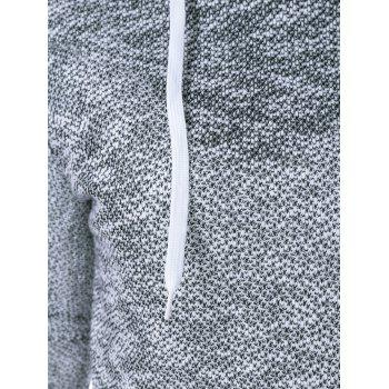 Heathered Drawstring Hoodie - COLORMIX ONE SIZE