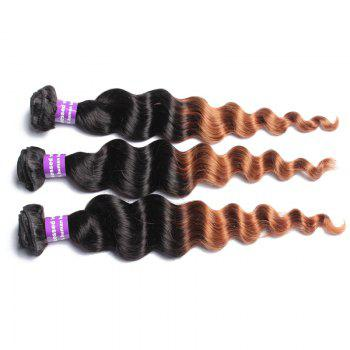1 Pcs Loose Wave Ombre Brazilian 6A Virgin Hair Weaves - 14INCH 14INCH
