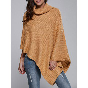 Batwing Sleeve Turtle Neck Cape Sweater