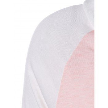 Color Block Panel Raglan Sleeve T-Shirt - S S