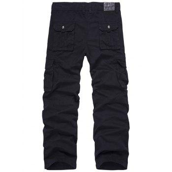 Zip Fly Multi-Pocket Straight Leg Cargo Pants - 34 34