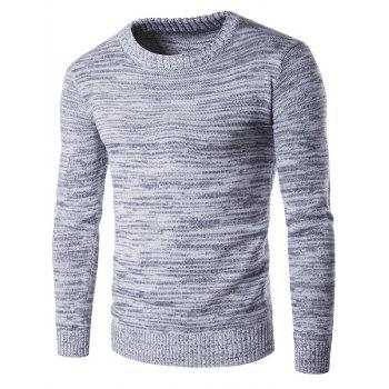 Space Dyed Crew Neck Sweater - GRAY M