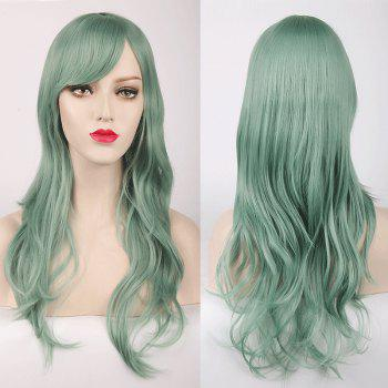 Multicolor Long Layered Tail Adduction Side Bang Cosplay Lolita Synthetic Wig