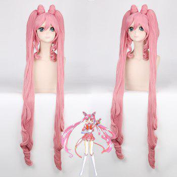 Long Side Bang with Bunches Chibiusa Sailor Moon Cosplay Synthetic Wig
