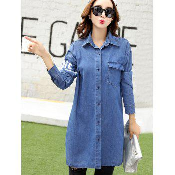 Letter 45 Number Long Jean Coat