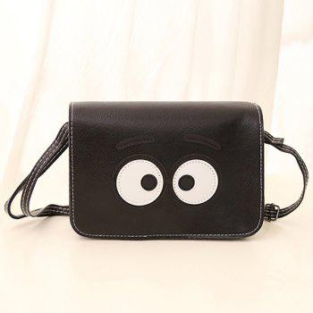 PU Leather Cartoon Eyes Crossbody Bag