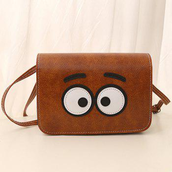Cartoon Eyes Crossbody Bag