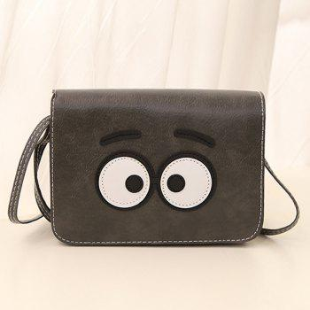 PU cuir Cartoon Eyes Sac bandoulière
