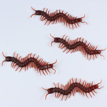 Halloween Party Supplies 10PCS Funny Chilopod Prop Decoration - BROWN BROWN