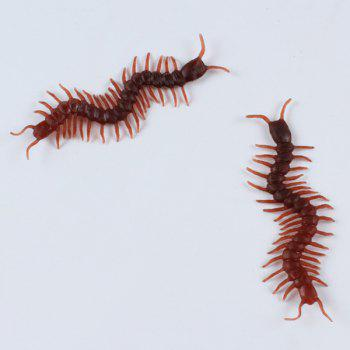 Halloween Party Supplies 10PCS Funny Chilopod Prop Decoration - BROWN