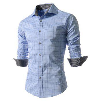 Long Sleeve Gingham Pattern Shirt