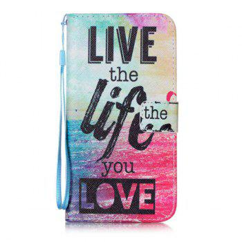 Letter Ocean Pattern Wallet Phone Case For iPhone 7 Plus -  COLORFUL