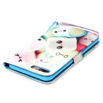 Cartoon Bun PU Wallet Card Case For iPhone 7 Plus -  COLORMIX