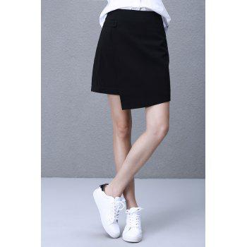 One Button Asymmetrical Skirt