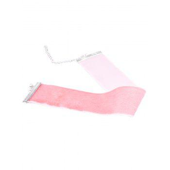 Large Velvet Collier Choker - ROSE PÂLE