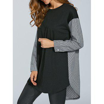Oversize Stripe Spliced T-Shirt