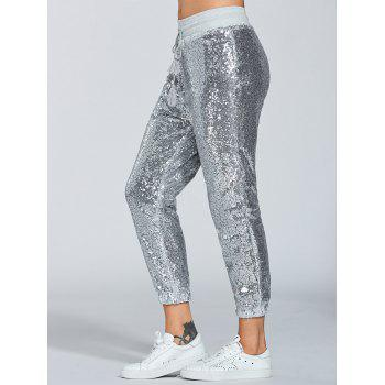 Sparkly Sequins Jogger Pants